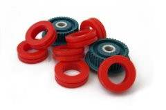 Blue Grommets and Red Pulley Wheels