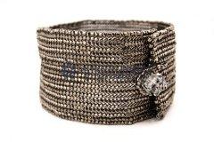 Herringbone Weave Silver Bracelet
