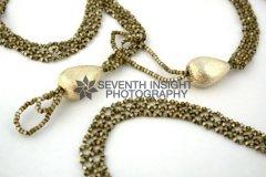Hand Woven Golden Bead Lariat