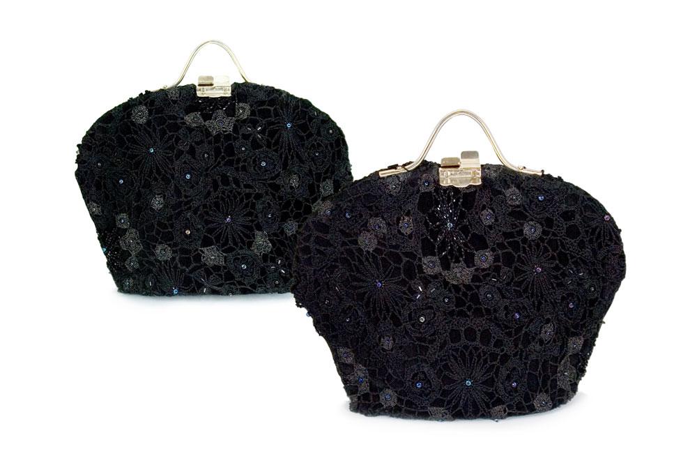 Black Lace Handbag by Marsha McIsaac