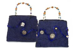 Deep Blue Purse by Marsha McIsaac