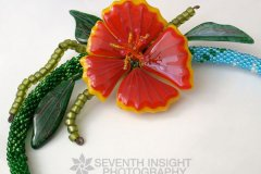 Michelle Prosek Hibiscus Necklace