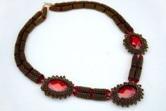Hand Beaded Necklace by Rose Savage Ouellette