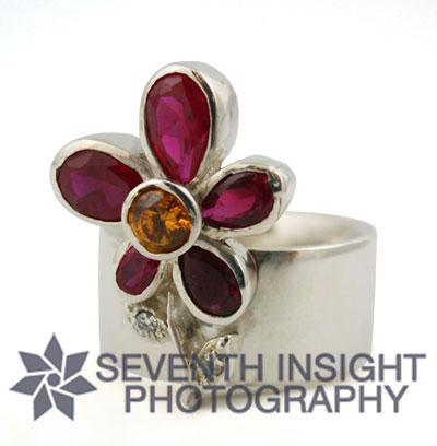 Mariel Pagliai Pink Flower Ring